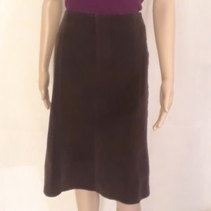 The Limited Brown Pinwale Corduroy Skirt - Size 6